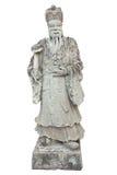Noble chino de piedra en el templo Imagen de archivo