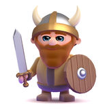 The noble 3d Viking Royalty Free Stock Image