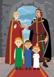 Noble Family. Picture of a medieval noble family Stock Images