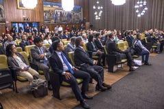 Noble hall. Sao Paulo, SP, Brazil, September 09, 2016. Japan's consul Takahiro Nakamae receives the title of Sao Paulo citizen, in the noble hall of the town Stock Photo