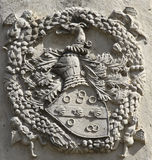 Noble heraldic symbol. On the entrance of house Royalty Free Stock Photos