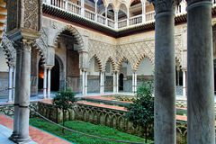 Noble house patio in Seville, Spain Royalty Free Stock Photos
