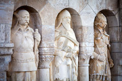 Noble knights statues at Buda Castle Stock Photography