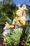 Noble man statue. Mexican statue of a noble man and palm tree Stock Photography