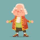 Noble medieval aristocrat mascot cartoon design vector illustration Stock Image