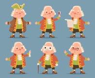 Noble medieval aristocrat mascot icons set cartoon design vector illustration Royalty Free Stock Photography