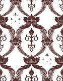 Noble pattern. Seamless noble pattern with floral motives Royalty Free Stock Photos