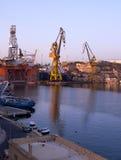 The Noble Paul Romano Oil rig in the Palumbo Shipyards, Malta. Royalty Free Stock Photos