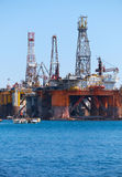 The Noble Paul Romano Oil rig in the Palumbo Shipyards, Malta. The Noble Paul Romano Oil rig in the Palumbo Shipyards in Cospicua (Bormla), Malta Stock Photography
