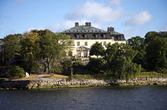 Noble residence in Stockholm Stock Photography