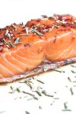 Noble salmon filet with herbs Royalty Free Stock Image