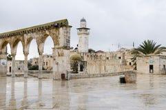The Noble Sanctuary, Jerusalem. The Temple Mount in Jerusalem, known by Muslims as the Noble Sanctuary Stock Photo