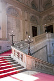Noble Stairway. Red carpet on a marble stairway Royalty Free Stock Image