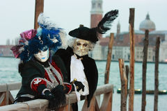 Noble Venetian masks Royalty Free Stock Image