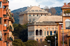 Noble villas. In an elegant district of the city of Genoa Italy royalty free stock photos