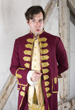 Nobleman. Portrait of a nobleman in a red livery Royalty Free Stock Images