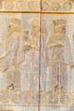 Noblemen relief detail Persepolis Stock Photo