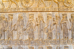 Noblemen relief detail Persepolis Royalty Free Stock Photography