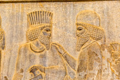 Noblemen relief detail Persepolis Royalty Free Stock Photos