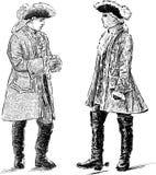 Noblemen talk Stock Photos