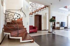 Nobles Haus - Wohnzimmer Stockbilder
