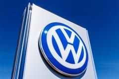 Noblesville -大约2018年3月:大众汽车和SUV经销权 VW是在世界` s最大的车厂中IV 库存照片