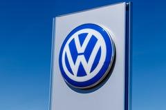 Noblesville -大约2018年3月:大众汽车和SUV经销权 VW是在世界` s最大的车厂中IV 免版税库存图片