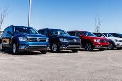 Noblesville -大约2018年3月:大众汽车和SUV经销权 VW是在世界` s最大的车厂中IV 免版税图库摄影