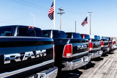 Noblesville - Circa March 2018: Ram Truck Dealership. Ram is a subsidiary of Fiat Chrysler Automobiles II. Ram Truck Dealership. Ram is a subsidiary of Fiat stock photo