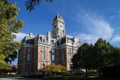 Noblesville Indiana Courthouse. The courthouse from the small town of Noblesville Indiana a midwestern suburb of Indianapolis stock images