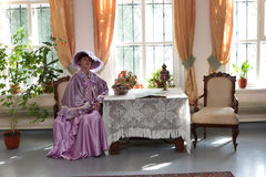 Noblewoman at home Stock Photos