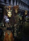 Nobleza del carnaval de Venecia Imagen de archivo libre de regalías