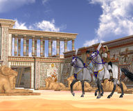 Nobleza egipcia a caballo Imagenes de archivo