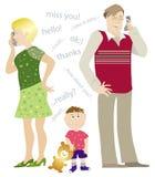 Noboby talks to boy 2. Nobody talks to small boy royalty free illustration