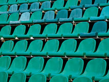Nobody. Empty seats of moscow Torpedo stadium Royalty Free Stock Images