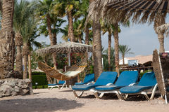 Nobody is on the beach. Egypt, Taba royalty free stock photo