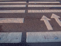 Nobody on Crosswalk in Black and white. Forward direction Royalty Free Stock Image
