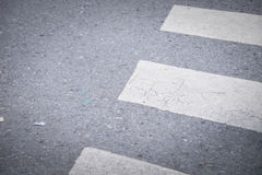 Nobody on Crosswalk on the street stock image