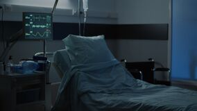 Nobody in empty hospital room prepared for treatment