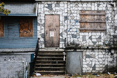Nobody home. Abandoned house in the bronx, NYC Stock Photography