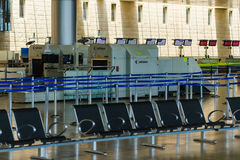 Nobody in international airport of Israel on Saturday (Shabbat) Royalty Free Stock Photography