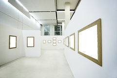 Nobody in the museum interior Stock Photo