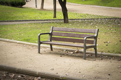 Nobody in a park bench Royalty Free Stock Photos