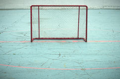Nobody playing hockey goal empty aspiration success. Empty goal hockey sport net aspiration playing success Stock Photography