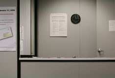 Nobody At Reception Desk. It's noon and nobody at the reception desk Royalty Free Stock Photo