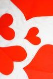 Nobody red hearts Stock Photo