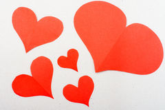 Nobody red hearts Stock Images