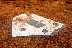 Nobody's coming home. Home plate on a little league baseball field Royalty Free Stock Images