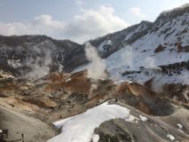 Noboribetsu火山 免版税库存图片