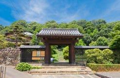 Noboritachimon门& x28; 第16个c & x29;Uwajima城堡, Uwajima镇, J 免版税库存照片